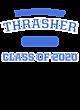 Thrasher Ladies Sport-Wick Heather Fleece Hooded Pullover