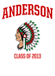 Anderson Youth Heavyweight Sleeve Stripe Hooded Sweatshirt