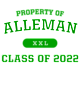 Alleman Womens Lightweight Fleece Raglan Hoodie