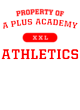 A Plus Academy Tri-Blend Wicking Short Sleeve Hoodie
