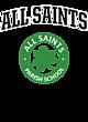 All Saints Vintage Heather Hooded Unisex Sweatshirt