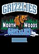 North Woods Youth Heavyweight Sleeve Stripe Hooded Sweatshirt