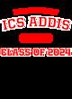 ICS ADDIS Ladies Tri-Blend Wicking Fleece Crop Hoodie
