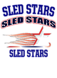 Sled Stars Embroidered Womens Half Zip Stretch Pullover
