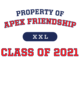 Apex Friendship Classic Fit Heavy Weight Long Sleeve T-shirt