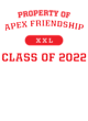 Apex Friendship Classic Fit Heavy Weight T-shirt