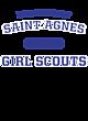 Saint Agnes Ladies Tri Blend Racerback Tank