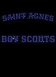 Saint Agnes Adult Baseball T-Shirt