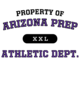 Arizona Prep Ladies Tri-Blend Wicking Fan Tee