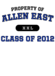 Allen East Ladies Game Long Sleeve V-Neck Tee