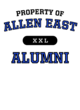 Allen East New Era Ladies Tri-Blend Performance Baseball Tee