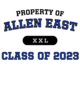 Allen East Long Sleeve Competitor Cotton Touch Training Shirt