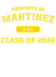 Martinez Infant Football Fine Jersey Bodysuit