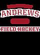 Andrews Ladies Tri-Blend Wicking Fleece Crop Hoodie