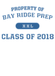 Bay Ridge Prep New Era Tri-Blend Pullover Hooded Sweatshirt